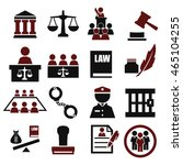 attorney  court  law icon set | Shutterstock .eps vector #465104255
