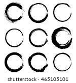 grunge circles round shapes... | Shutterstock .eps vector #465105101