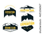 set of mountain adventure logo... | Shutterstock .eps vector #465106067
