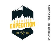 mountain adventure logo badge | Shutterstock .eps vector #465106091