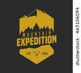 mountain adventure logo badge | Shutterstock .eps vector #465106094