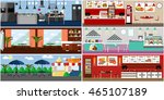 banner with restaurant... | Shutterstock . vector #465107189