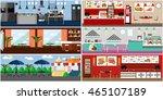 banner with restaurant... | Shutterstock . vector #465107189