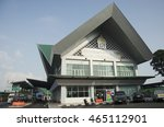 Small photo of SONGKHLA, THAILAND - APRIL 25 : Sadao border crossing and customs territory land adjacent the thai-malaysian border opposite the customs checkpoint resources on April 25, 2016 in Songkhla, Thailand