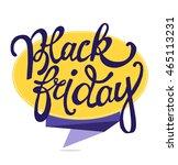 black friday sale vector banner.... | Shutterstock .eps vector #465113231
