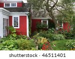 Old New England Home In Red