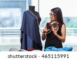 woman tailor working on new... | Shutterstock . vector #465115991