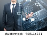 double exposure of professional ... | Shutterstock . vector #465116381