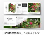 vector set of tri fold... | Shutterstock .eps vector #465117479