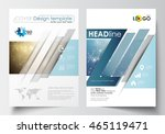 business templates for brochure ... | Shutterstock .eps vector #465119471