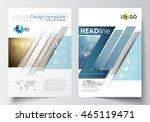 business templates for brochure ... | Shutterstock .eps vector #465119471