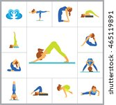 yoga icon set | Shutterstock .eps vector #465119891