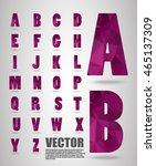 vector alphabet mosaic font low ... | Shutterstock .eps vector #465137309