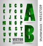 vector alphabet mosaic font low ... | Shutterstock .eps vector #465137339
