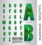 vector alphabet mosaic font low ... | Shutterstock .eps vector #465137471