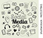 social media icons vector. | Shutterstock .eps vector #465137861
