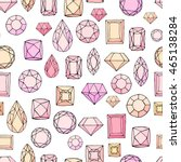 seamless pattern with diamonds  ... | Shutterstock .eps vector #465138284