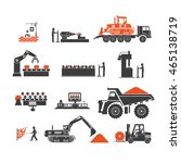 icons of technological... | Shutterstock .eps vector #465138719