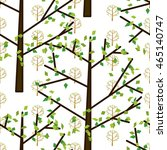 summer trees colorful seamless... | Shutterstock .eps vector #465140747