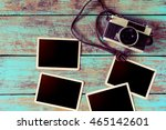 retro camera and empty old... | Shutterstock . vector #465142601