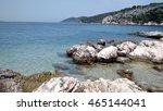 rocks and beach | Shutterstock . vector #465144041