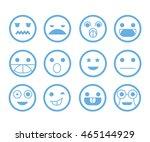 emoticon set | Shutterstock .eps vector #465144929