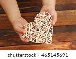 heart in the children's hands... | Shutterstock . vector #465145691