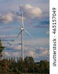 Small photo of Wind turbine farm - renewable energy, sustainable energy and alternative energy