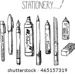 drawing stationery. stationery... | Shutterstock .eps vector #465157319