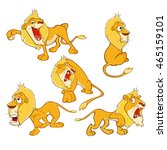 set of vector cartoon... | Shutterstock .eps vector #465159101