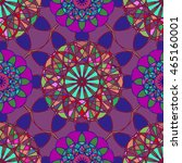 amazing multicolor kaleidoscope ... | Shutterstock .eps vector #465160001