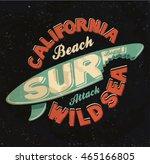 surf. surf board. california... | Shutterstock .eps vector #465166805