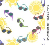 seamless pattern with colorful... | Shutterstock .eps vector #465167441