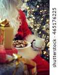 santa clause with milk | Shutterstock . vector #465176225