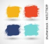 summer style grunge banners | Shutterstock .eps vector #465177839