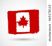 flag of canada. grungy  worn ... | Shutterstock .eps vector #465178115