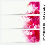 set of three banners  abstract... | Shutterstock .eps vector #465183239