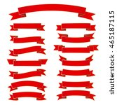 ribbon vector icon set red... | Shutterstock .eps vector #465187115