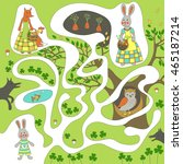 children's game  maze   help... | Shutterstock .eps vector #465187214