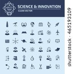 science icon innovation icon... | Shutterstock .eps vector #465193109