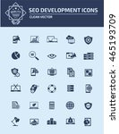 seo development icon set vector | Shutterstock .eps vector #465193709