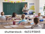 teacher during the lesson with... | Shutterstock . vector #465195845