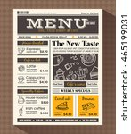 restaurant cafe menu design... | Shutterstock .eps vector #465199031