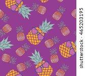 pineapple   vector illustration   Shutterstock .eps vector #465203195
