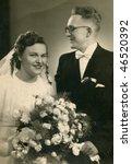 Vintage Wedding Photo  1948
