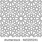 arabesque seamless black  ... | Shutterstock .eps vector #465205241