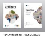 annual report brochure flyer... | Shutterstock .eps vector #465208637