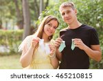 pregnancy concept. young... | Shutterstock . vector #465210815