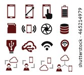 phone specification icon set | Shutterstock .eps vector #465214979