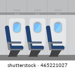 aircraft interior with windows... | Shutterstock .eps vector #465221027